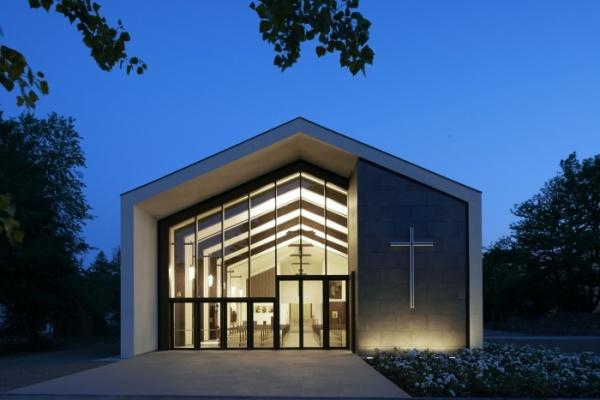 Ricostruzione in emilia romagna la chiesa temporanea di for Architettura temporanea