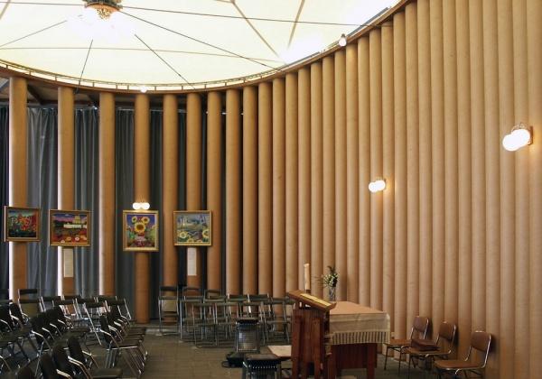 spesso Architetture temporanee: i tubi di cartone di Shigeru Ban  XE93