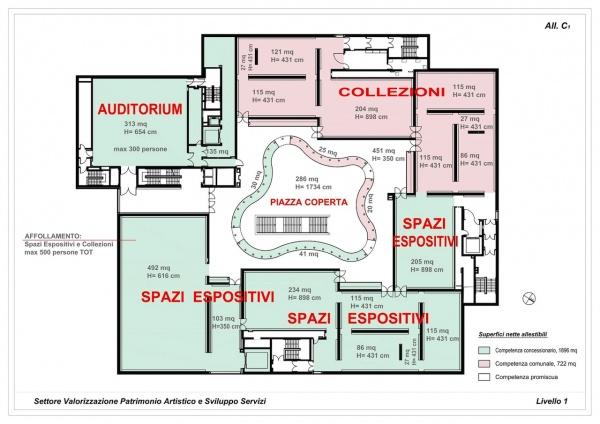 Com 39 e 39 il mudec il museo delle culture firmato david for Pianta del pavimento con dimensioni
