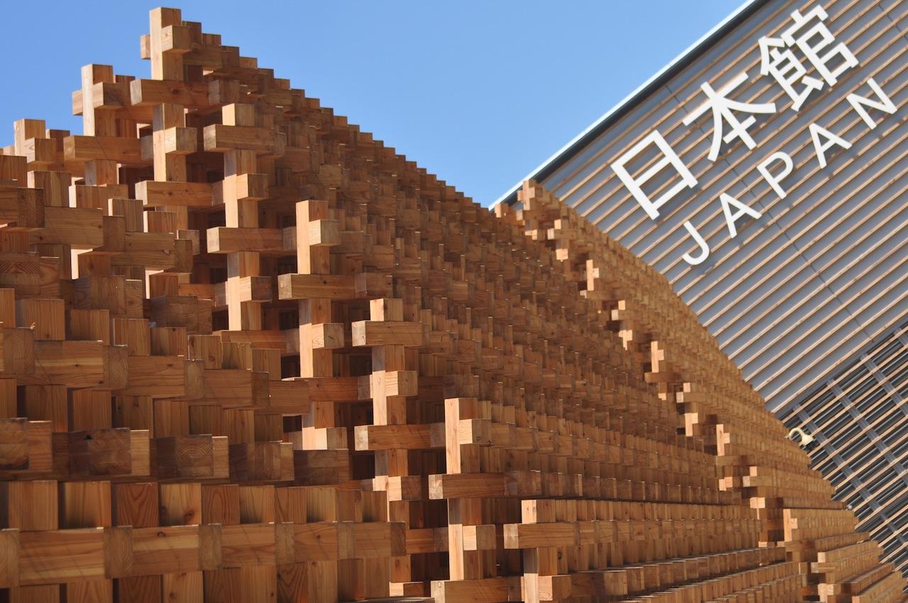 Expo 2015 il padiglione giappone e la facciata in legno for Architettura giapponese