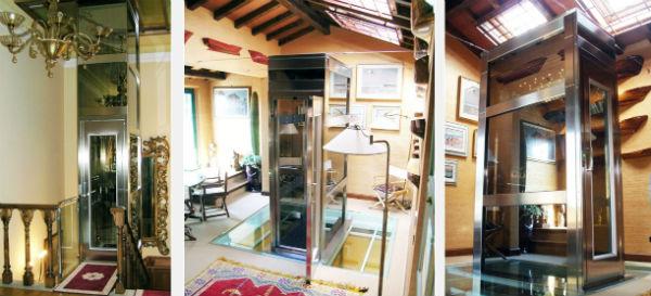 Il mini ascensore elegance per una villa privata dei primi - Ascensore in casa ...
